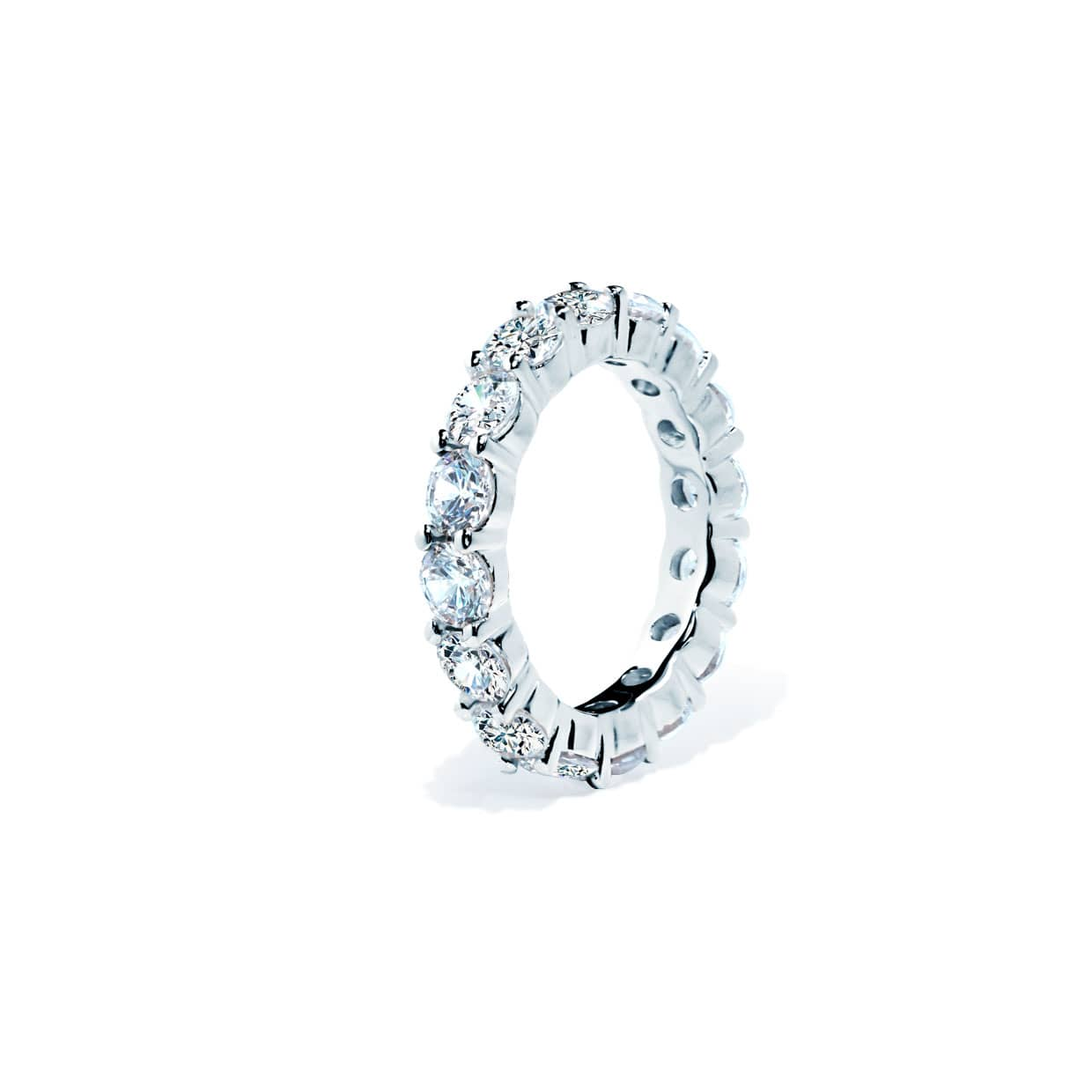 Oxford Silver Round Cut Band Ring - Abelstedt