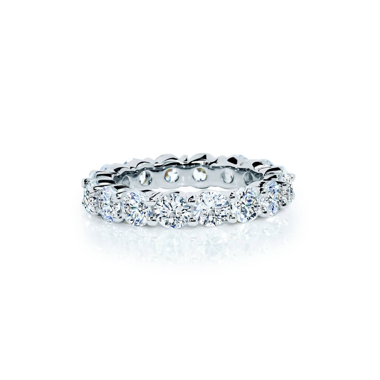 Oxford Silver Round Cut Band Ring