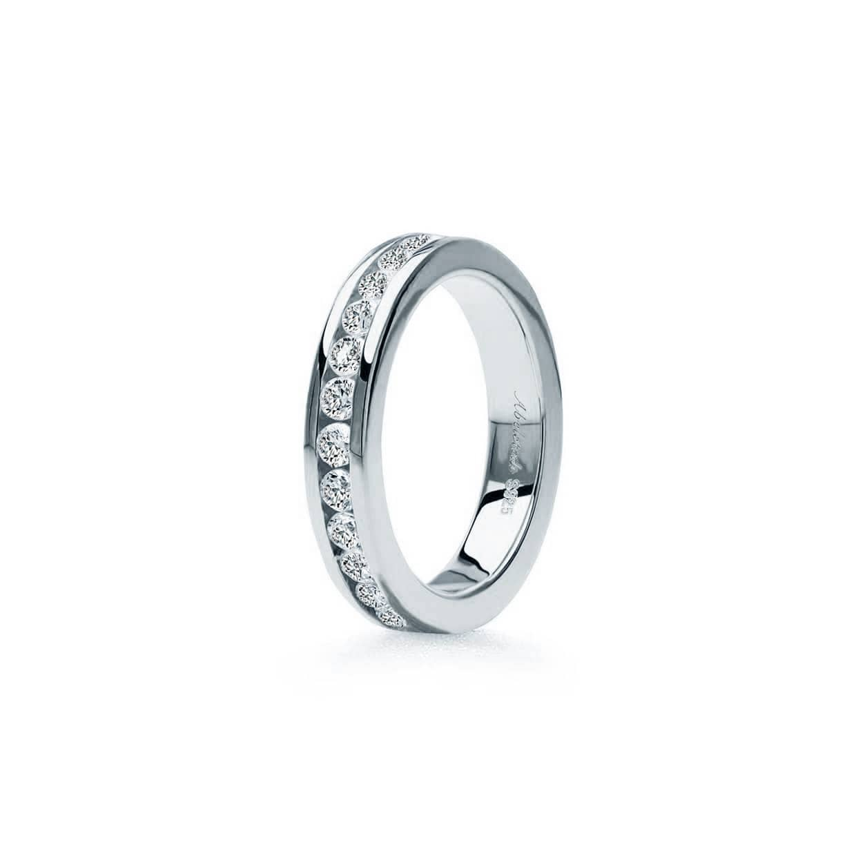 Oxford Silver Round Cut Eternity Ring - Abelstedt