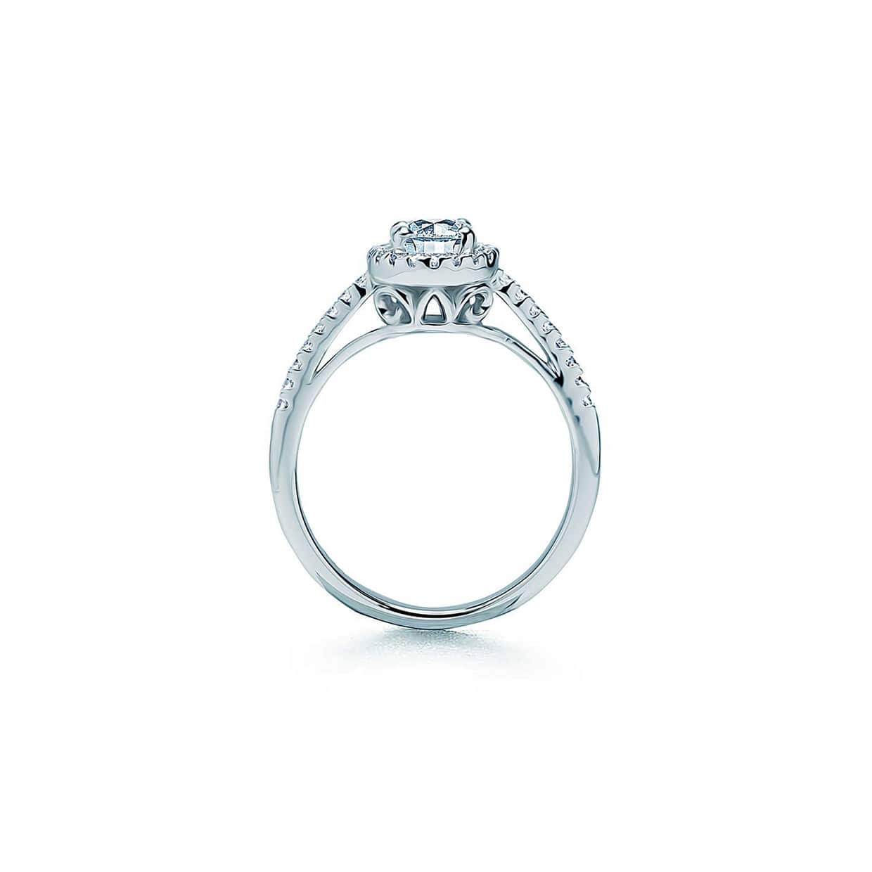 Oxford Silver Round Cut Halo Ring - Abelstedt