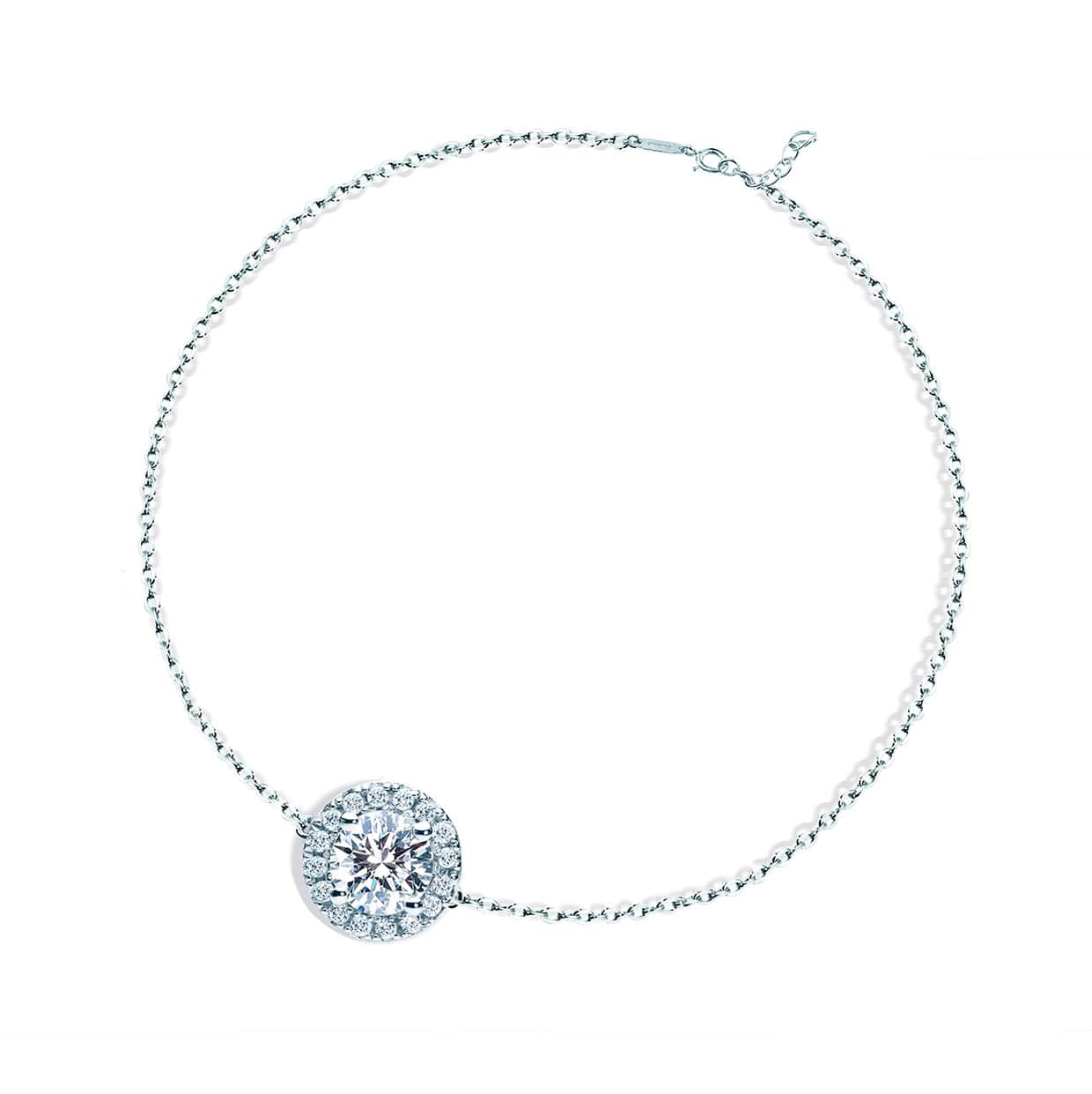 Oxford Silver Round Halo Bracelet - Abelstedt