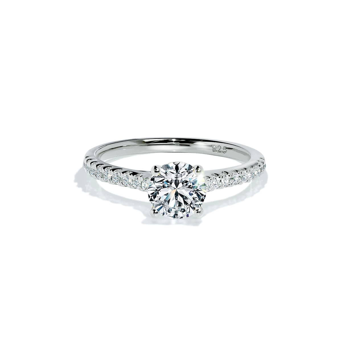 Oxford Silver Solitaire Ring