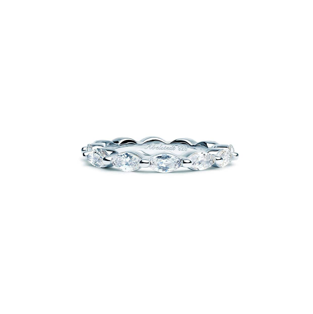 Oxford Silver Thin Marquise Ring