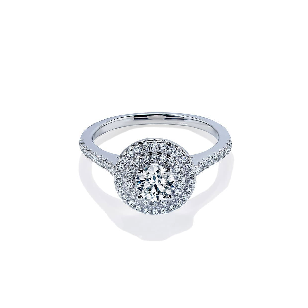 Oxford Double Halo Round Ring