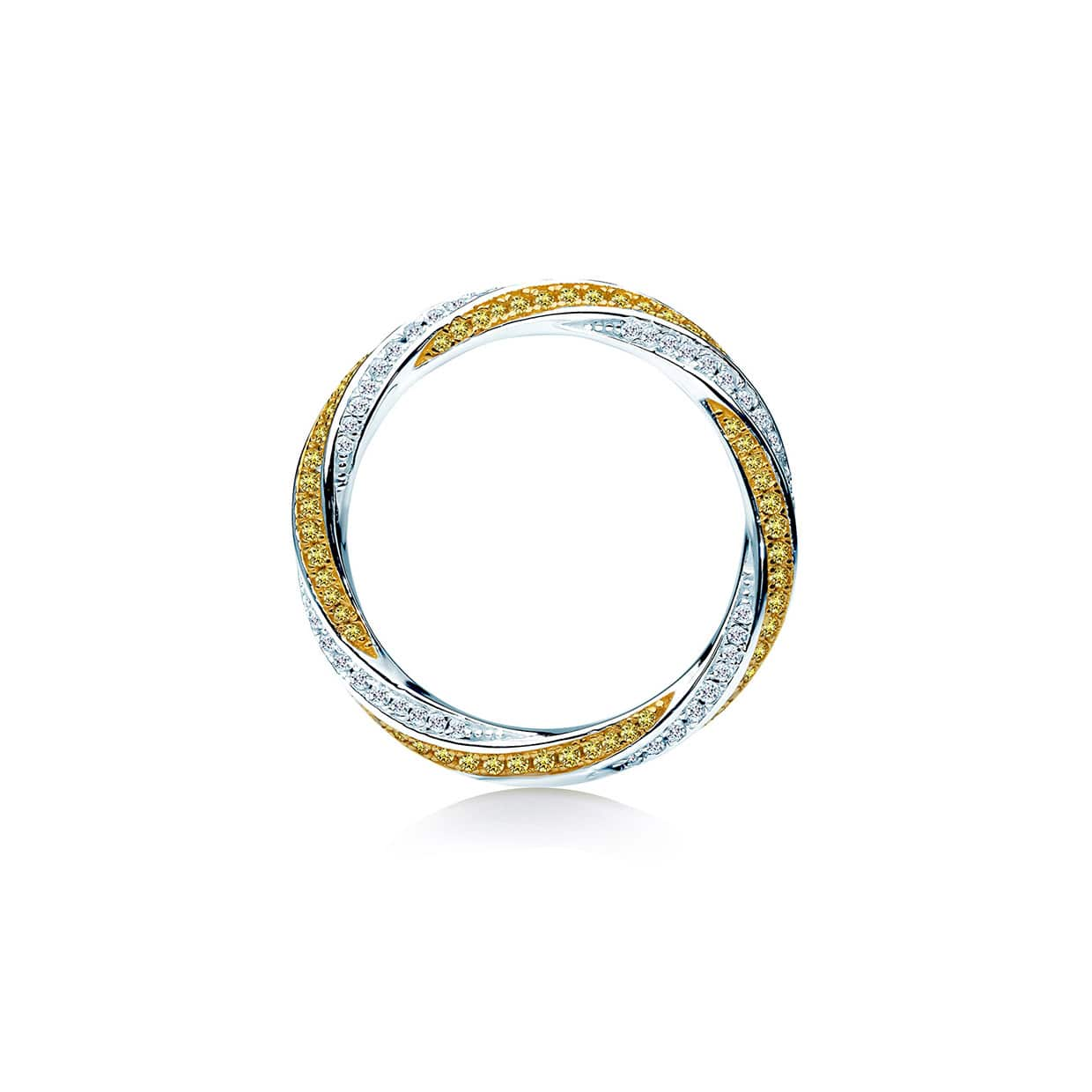 Sahara Twisted Yellow Stone Band Ring - Abelstedt