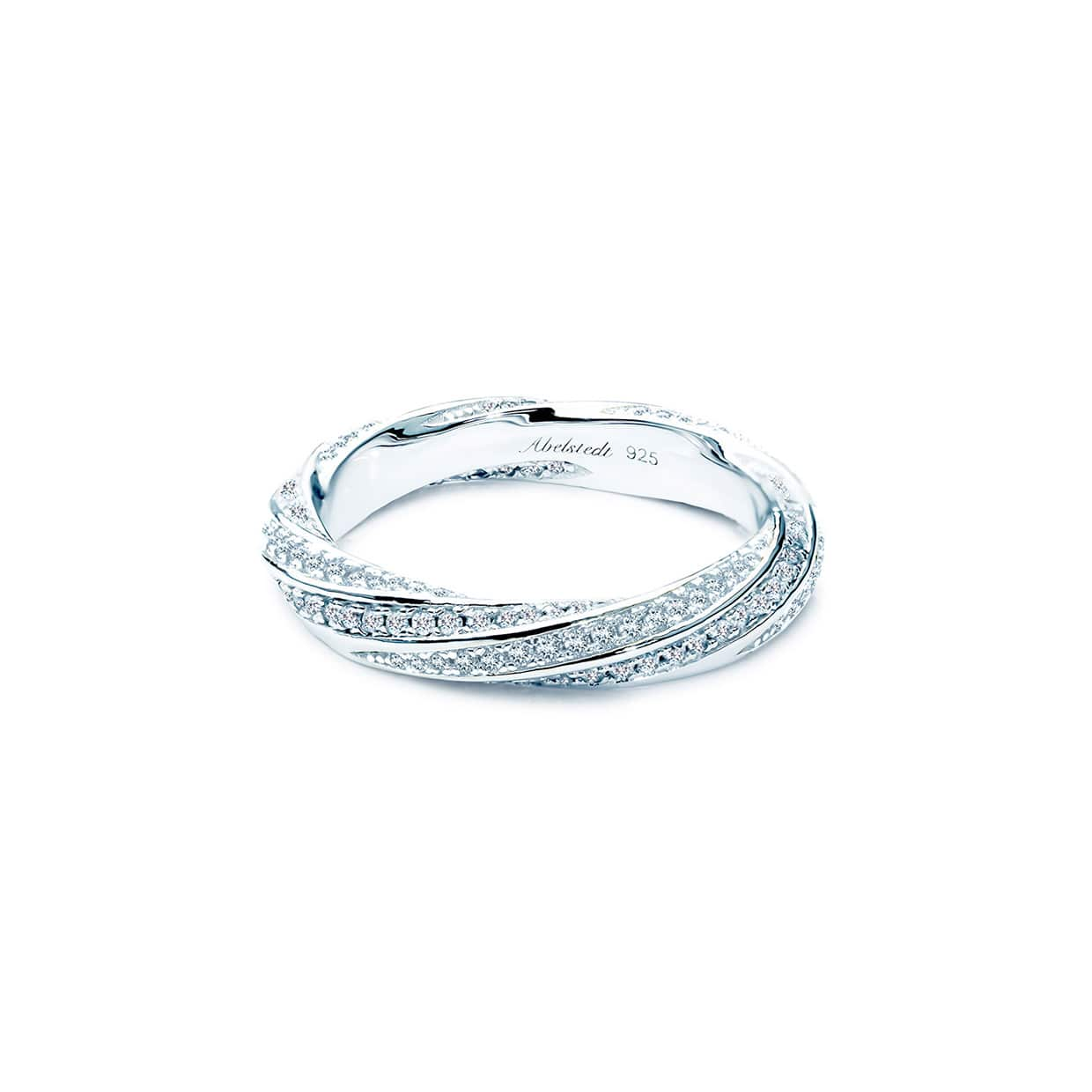 Sahara White Twisted Band Ring - Abelstedt