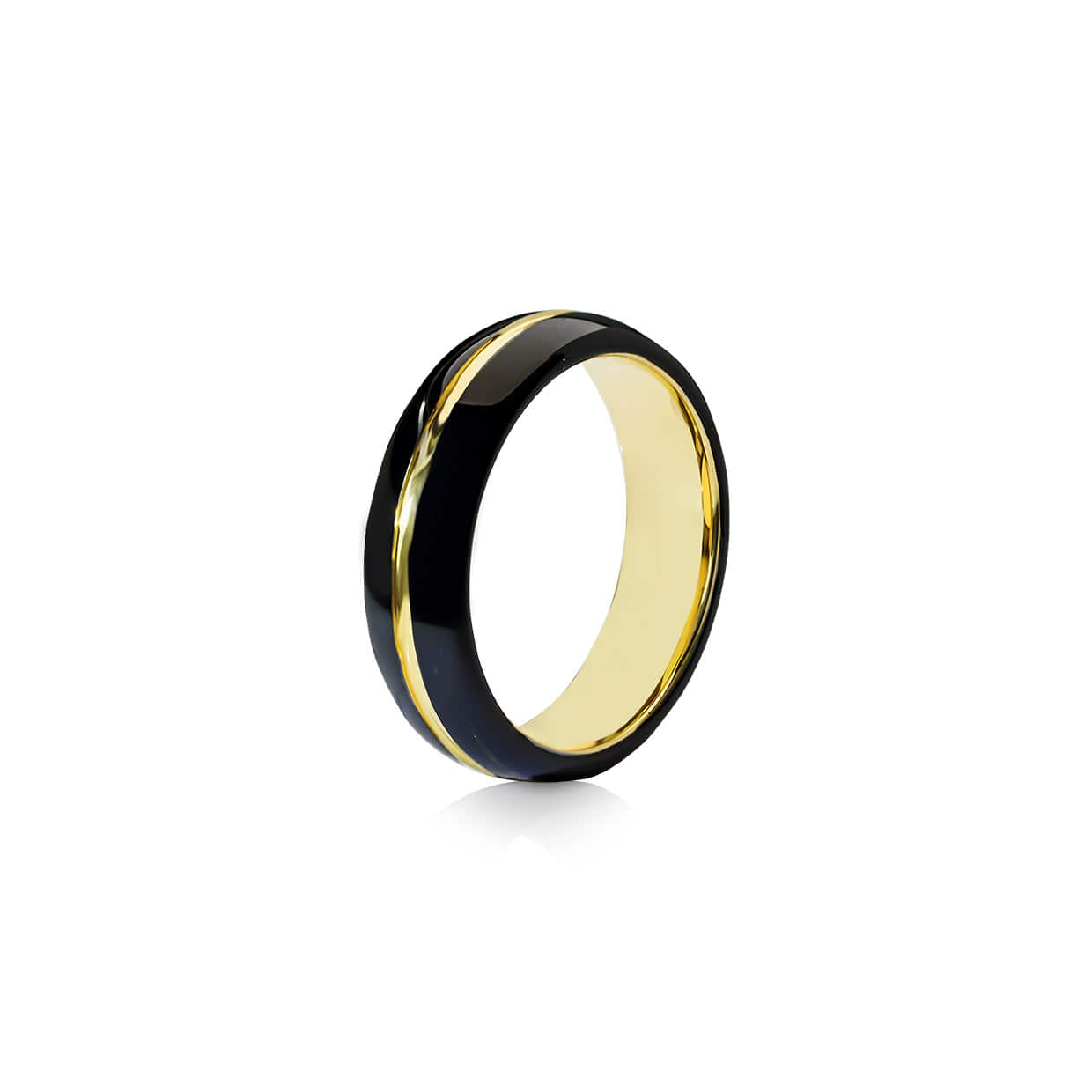 Tungsten Ring Black & Golden - Abelstedt