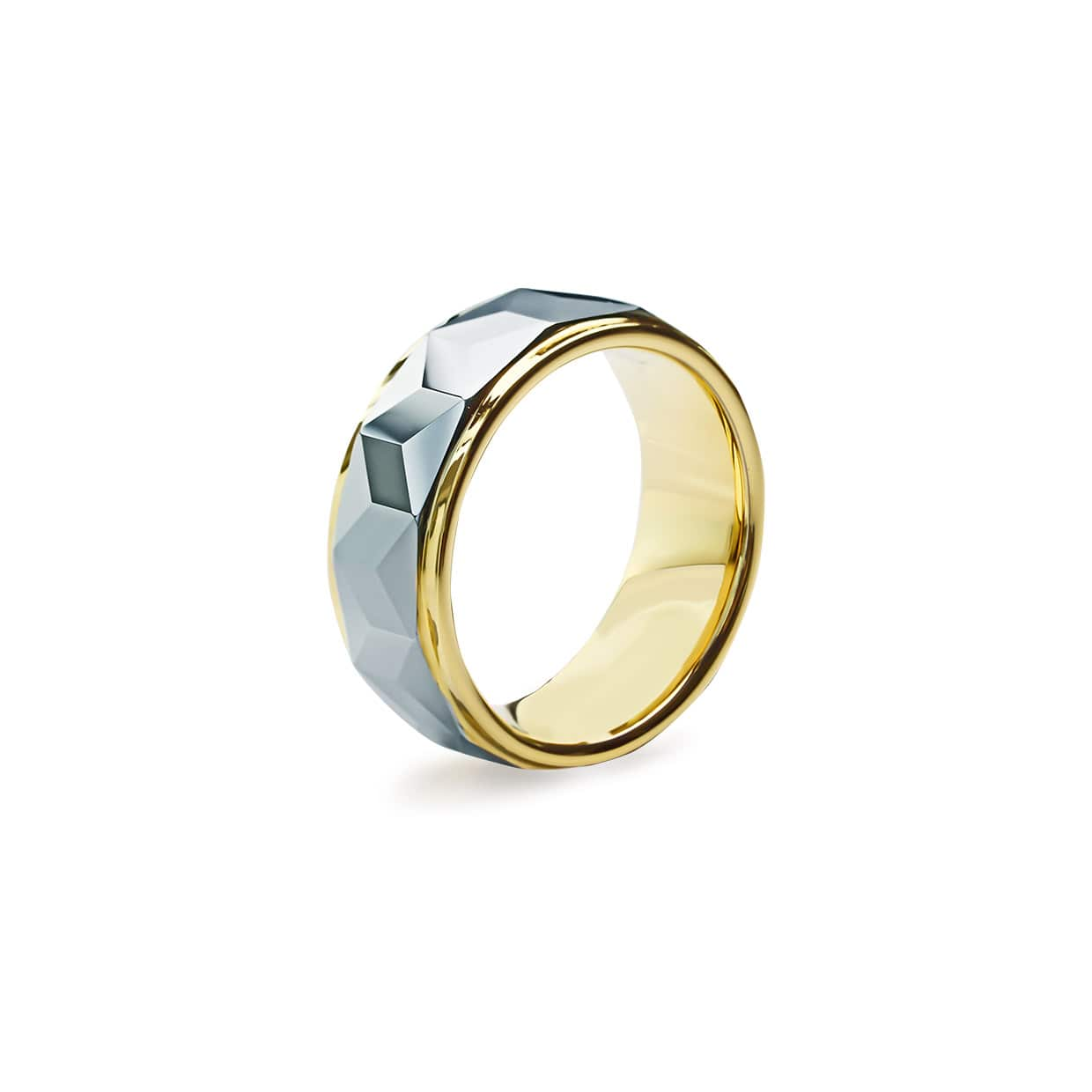 Tungsten Ring Grey & Golden - Abelstedt
