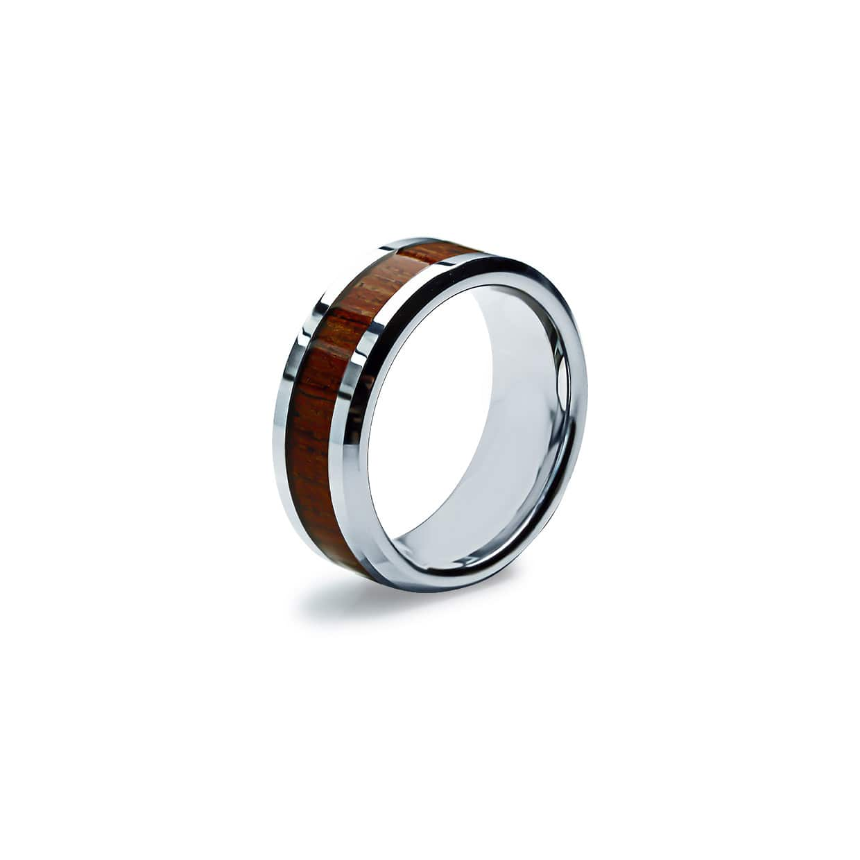 Tungsten Ring Wooden Grey - Abelstedt