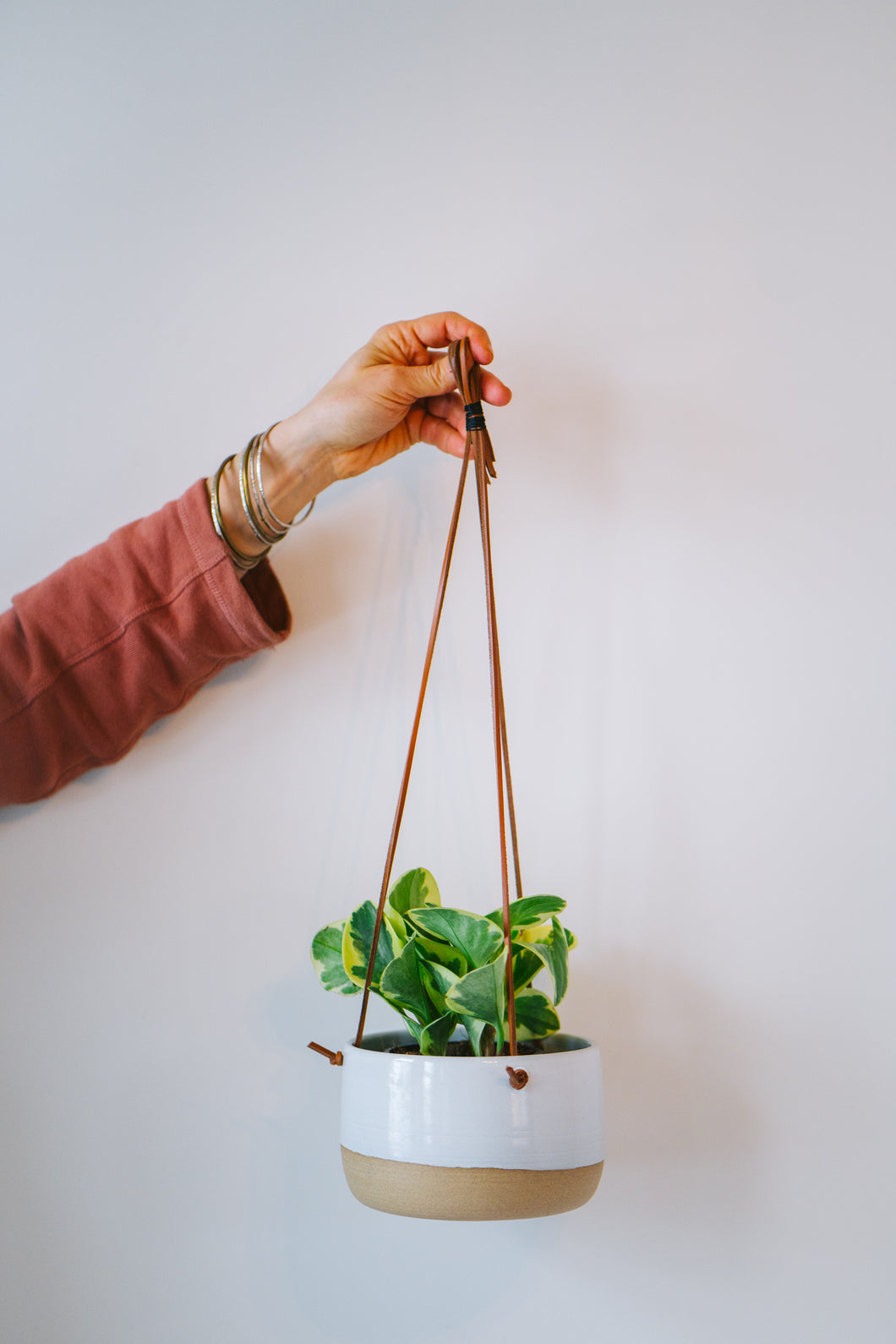 Large Wide Hanging Planter