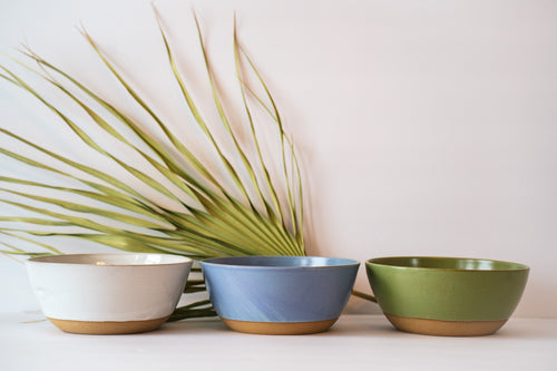 Bowls in 3 options white lavender or avocado
