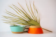 Load image into Gallery viewer, Bowls in 2 options Turquoise or orange