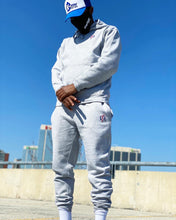 "Load image into Gallery viewer, Keyezer Classic Grey ""Two-tone"" Sweatsuit Set"