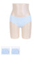 Women's Seamless Cotton Briefs (L, Light Blue)