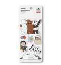 We Bare Bears -Easter Series Repositionable Stickers (A)