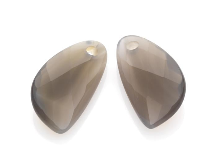 Sparkling Jewels Earstones Supernova Grey Agate EAGEM31-AS