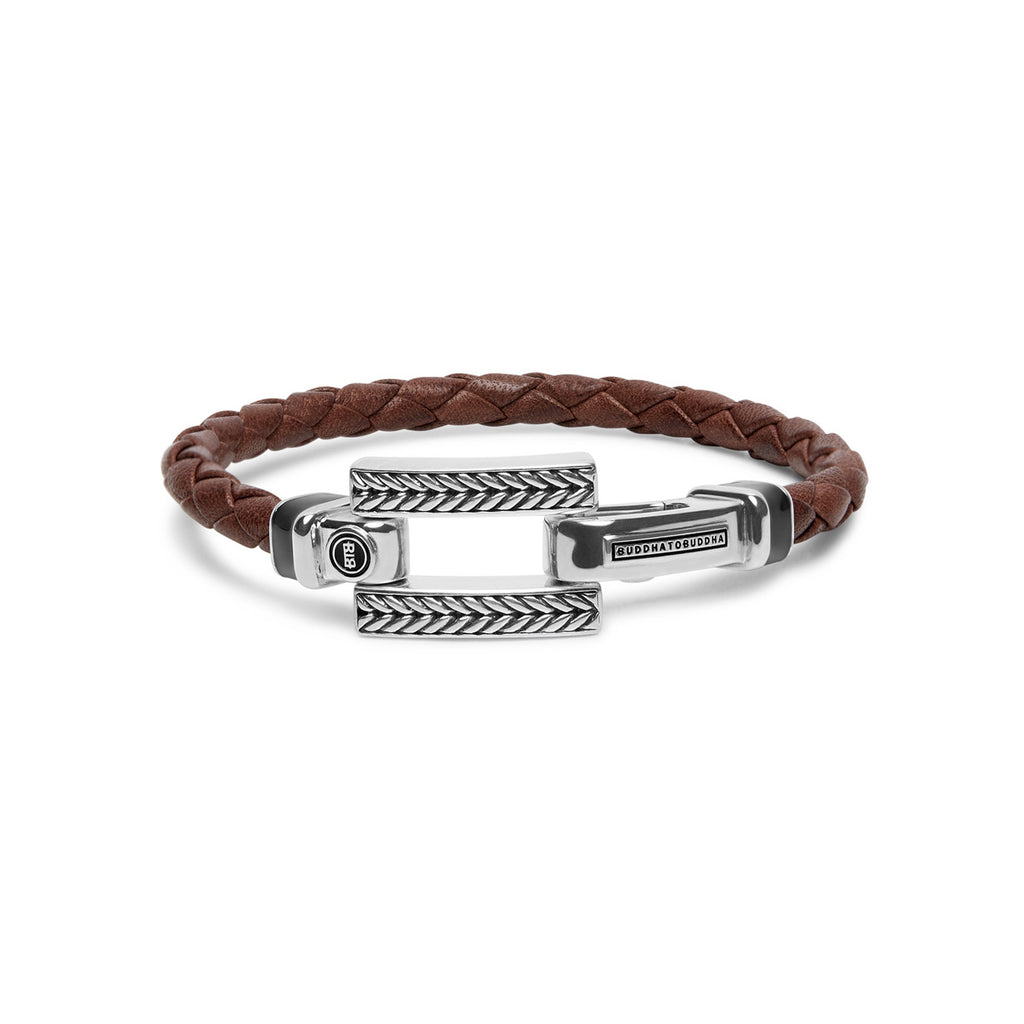Buddha to Buddha armband 120BR  Galang Leather Brown