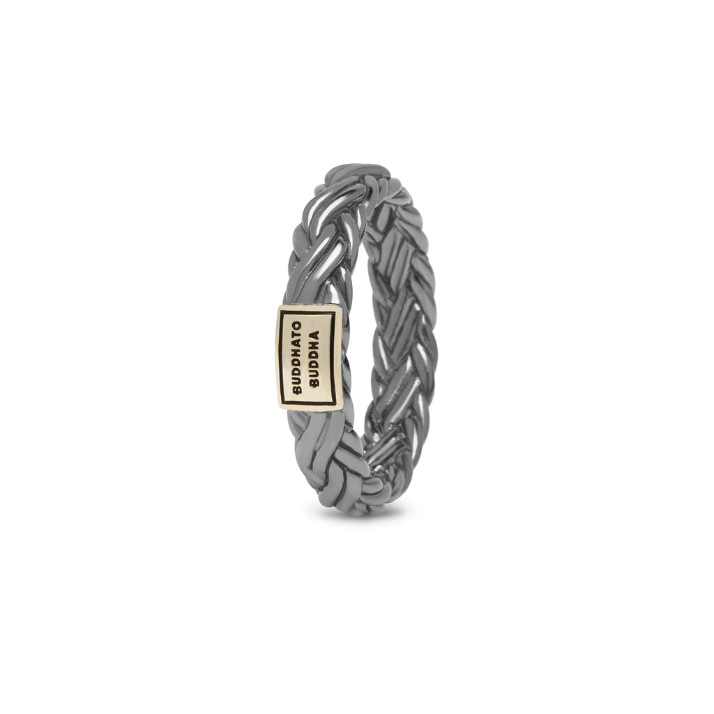 Buddha to Buddha 605BR SG Katja XS Black Rhodium Shine Gold ring