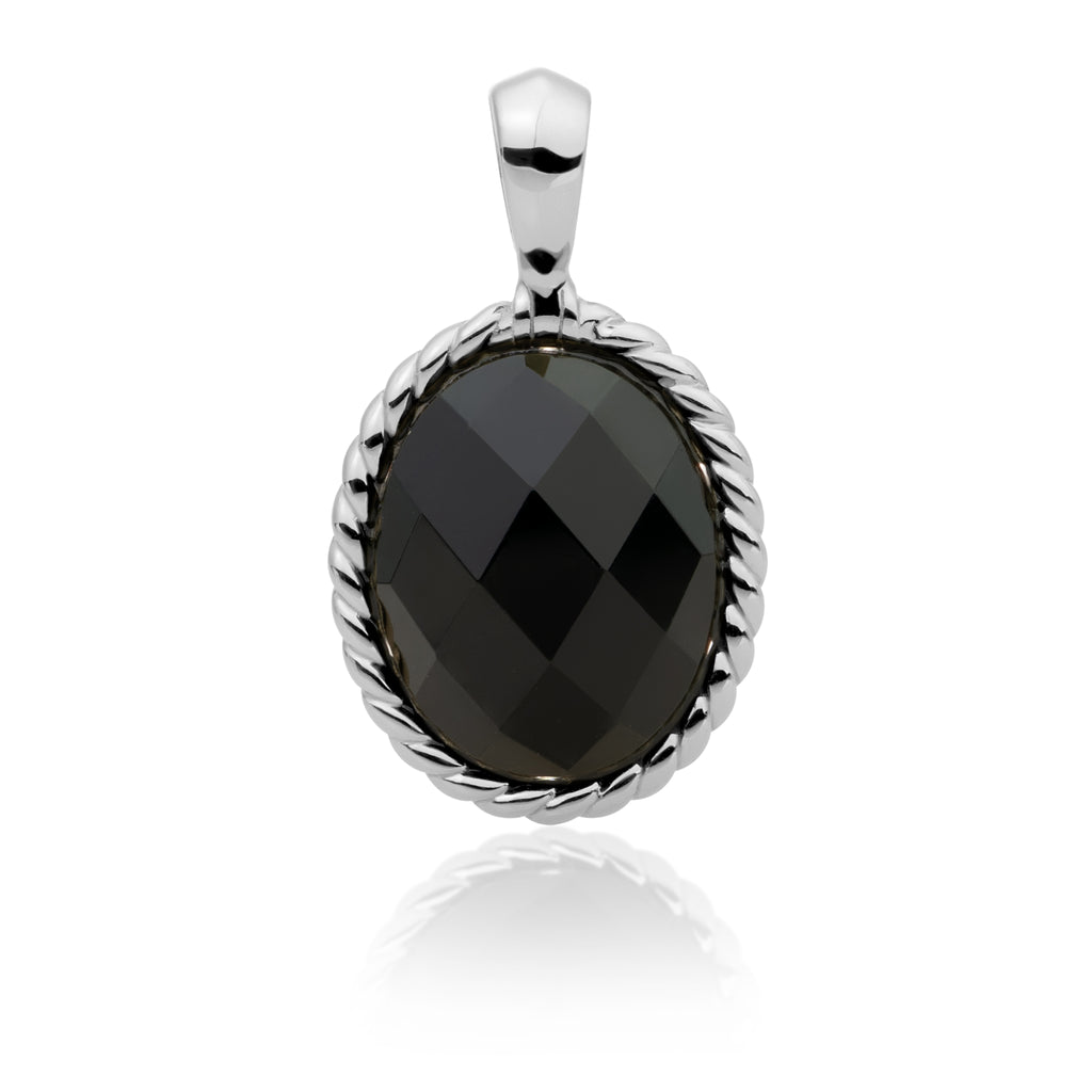 Sparkling Jewels Pendant Twist Onyx Zilver SP21-G07