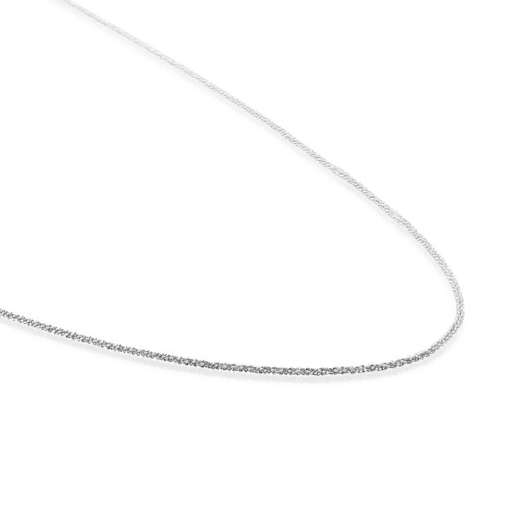 Sparkling Jewels Necklace Criss Cross Chain Silver 60cm SNCSM060
