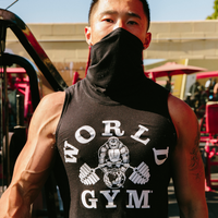 World Gym Special Edition Black Pullover Sleeveless T-Shirt