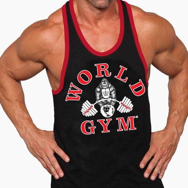 World Gym Athletic Ringer Tank