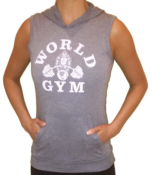 Ladies Tri-blend Sleeveless Pullover Hoodie