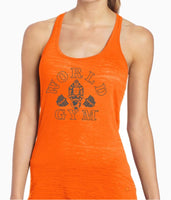 Ladies Neon Burnout Tank