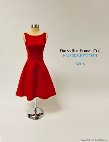 Half Scale Dress Pattern Size 8