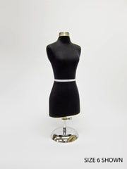 Half Scale Dress Form Size 08 Black