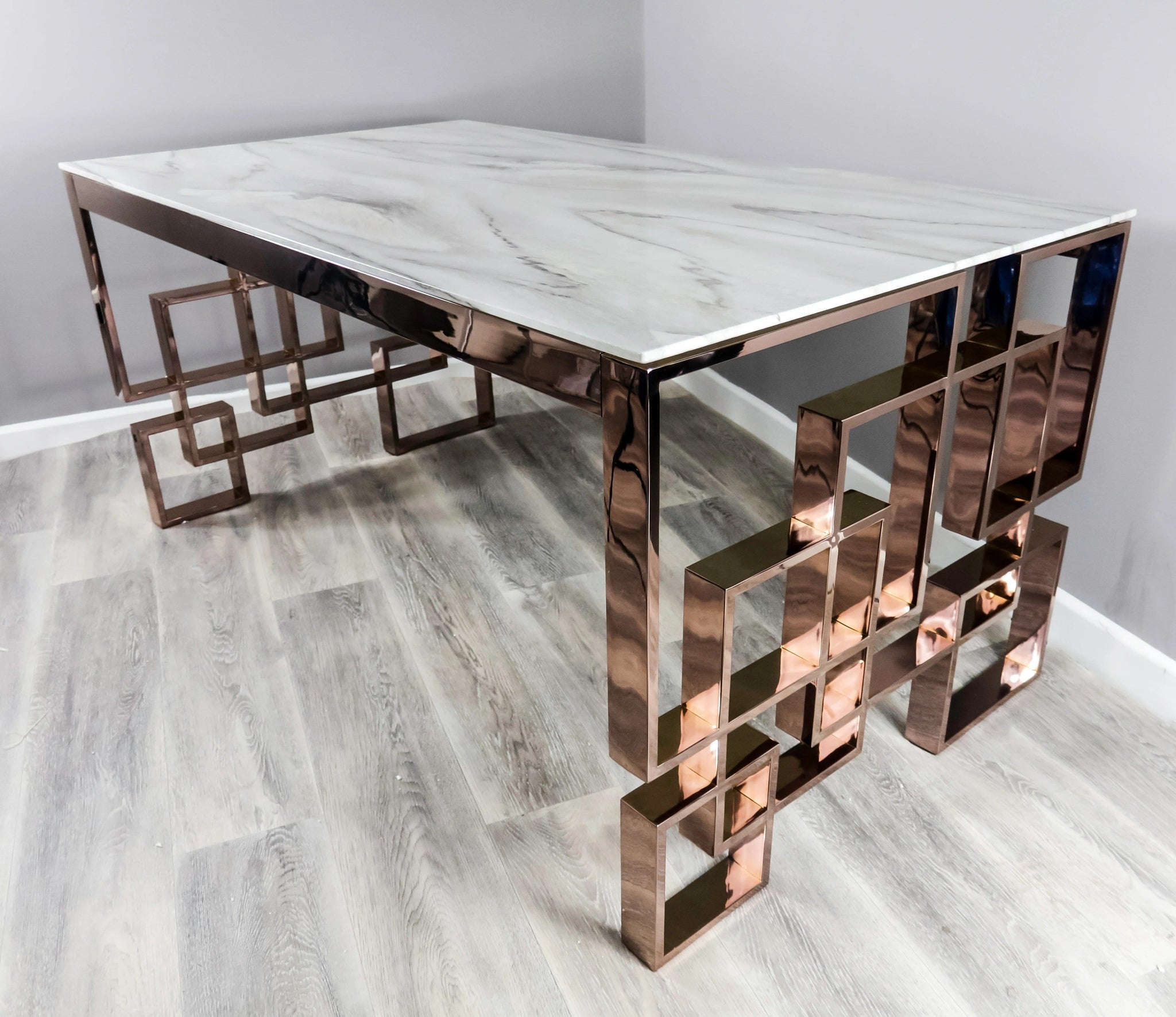 Native Home Marble Dining Table Rectangle Modern Marble Dining Table Ellanoir Luxury Ltd