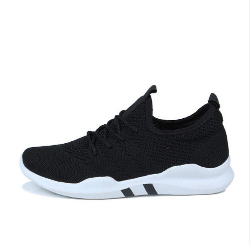 Flying woven shoes male Korean version of low-cut breathable canvas shoes trend casual sports tide shoes student shoes