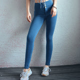 High waist peach hip jeans female elastic tight sports fitness pants hip running yoga pants