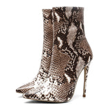 2020 autumn and winter new stiletto heels foreign trade large size fashion women's shoes snake pattern sexy fashion women's shoes