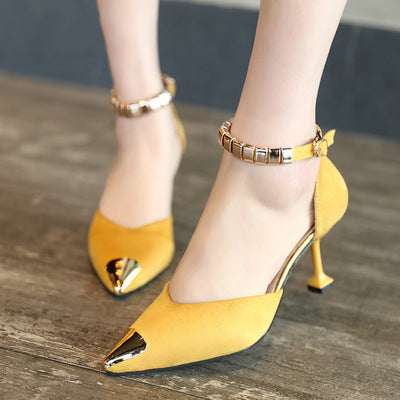 The new style of women's shoes in the summer of 2020, thehead, the women's high heels and the Korean fashion sandals