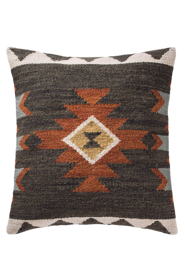 Dina Kilim Cushion Dark Colourway - Coates & Warner