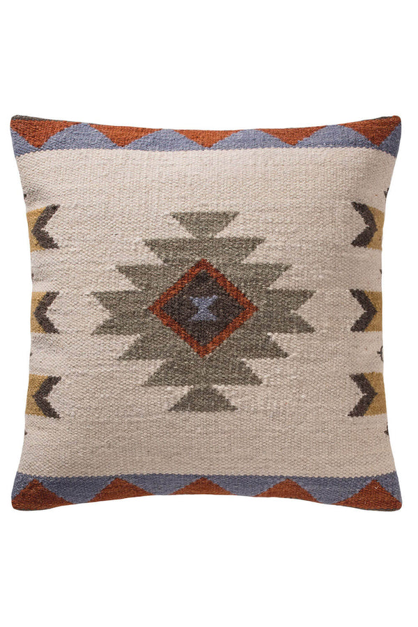 Dina Kilim Cushion Light Colourway - Coates & Warner