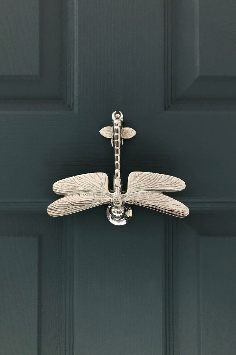 Nickel Dragonfly Door Knocker