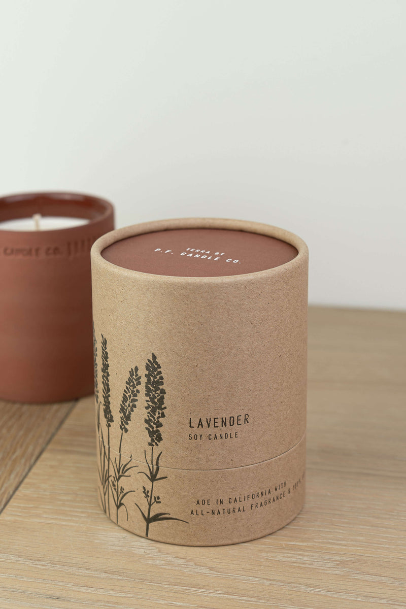 P.F. Candle Co Lavender Terra Soy Candle