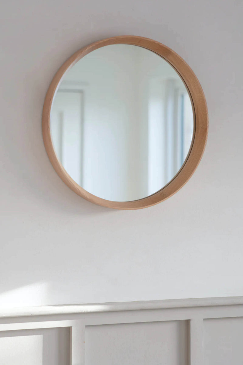 Round Oak Wall Mirror - Coates & Warner
