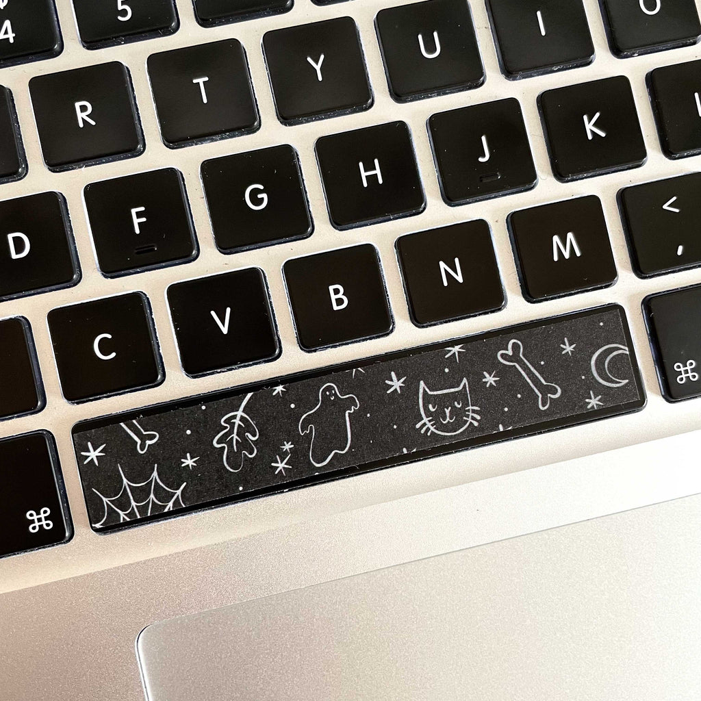 Washi Tape Space Bar - Spooky Doodles