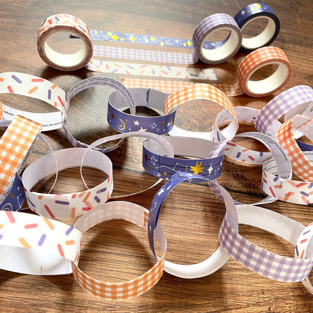 Washi Tape Paper Chains