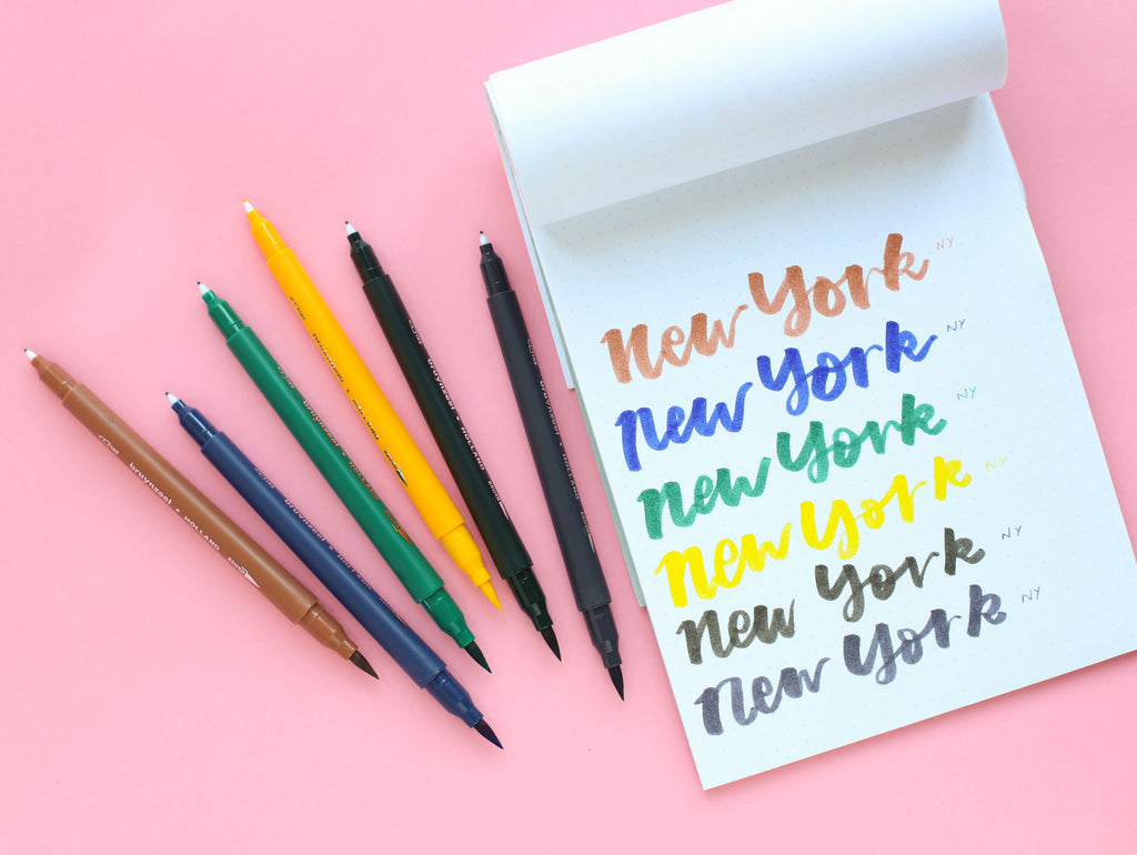 Fineliner / Brush Pen Dual Tip Set - New York