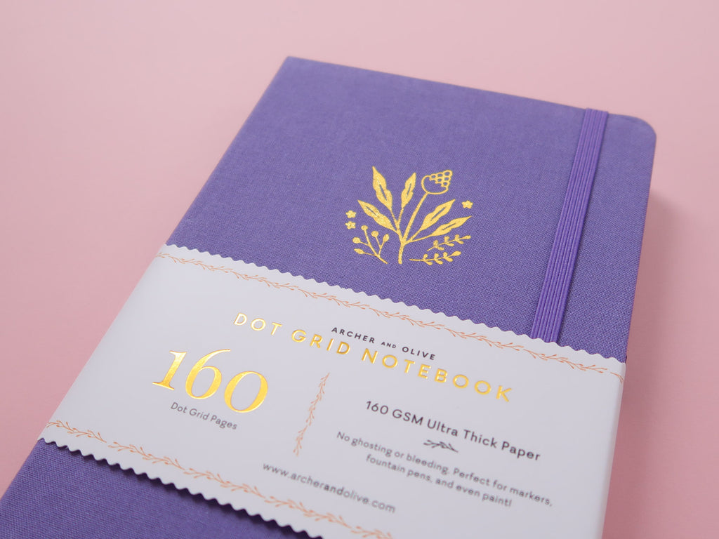 Dot Grid Journal - Lilac Floral