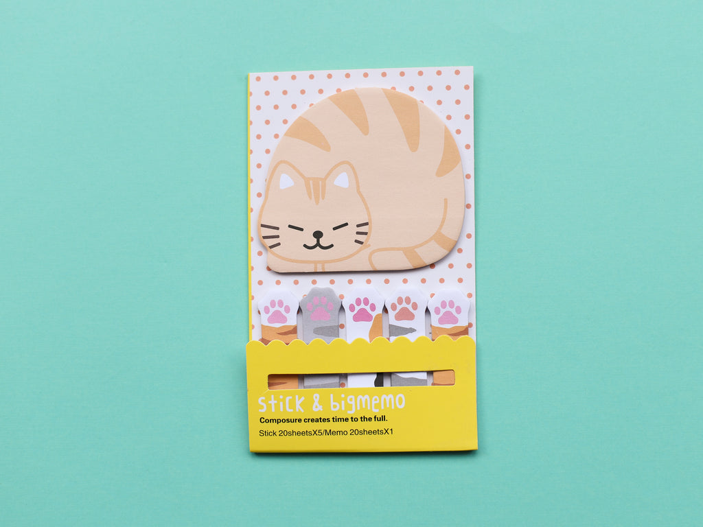 Big and Small Kitty Sticky Page Markers