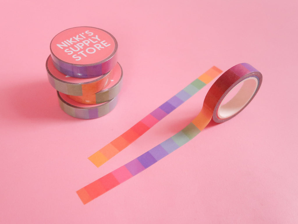Rainbow Blocks Washi Tape