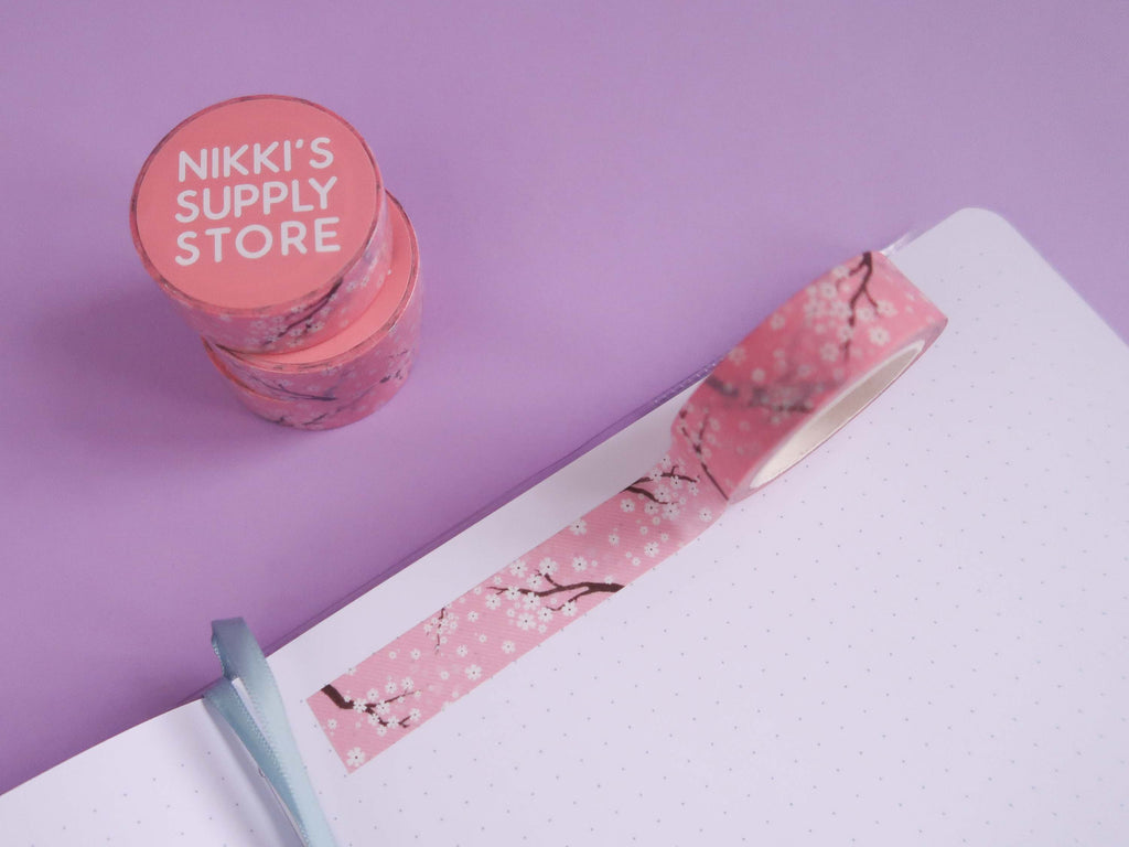 Pink Cherry Blossom Washi Tape