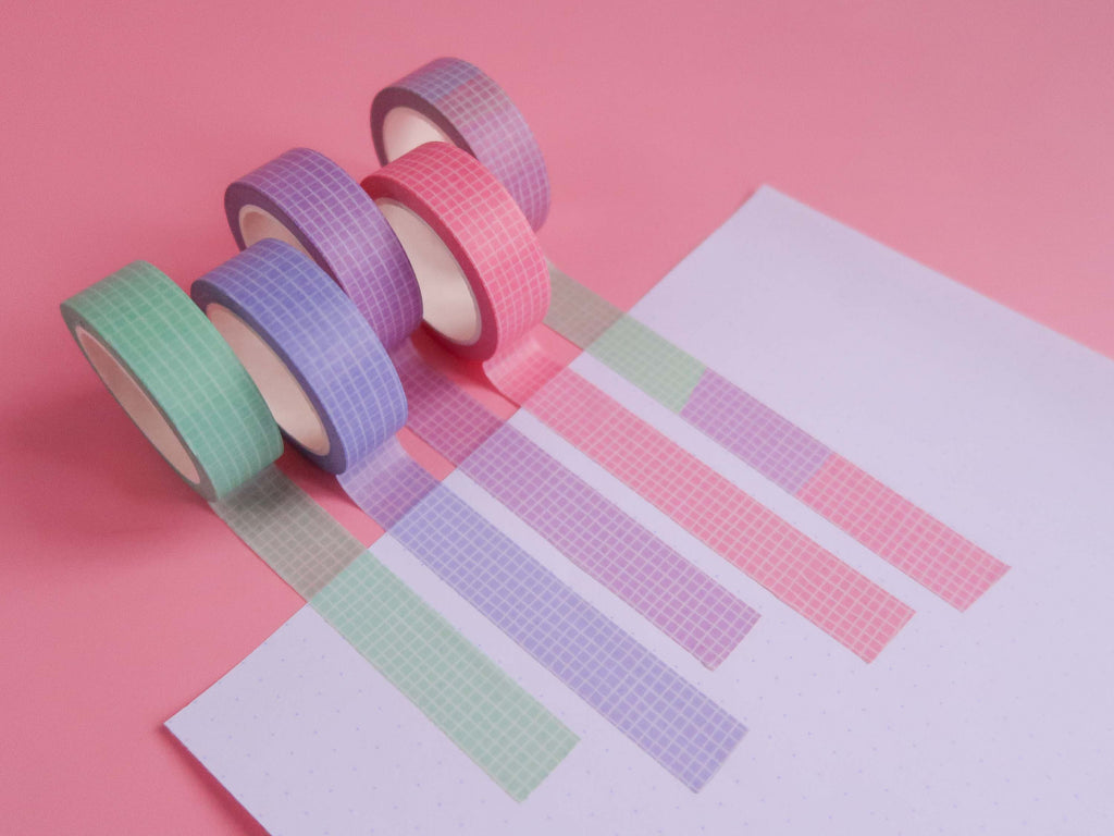 Perfect Pastels Grid Washi Tape