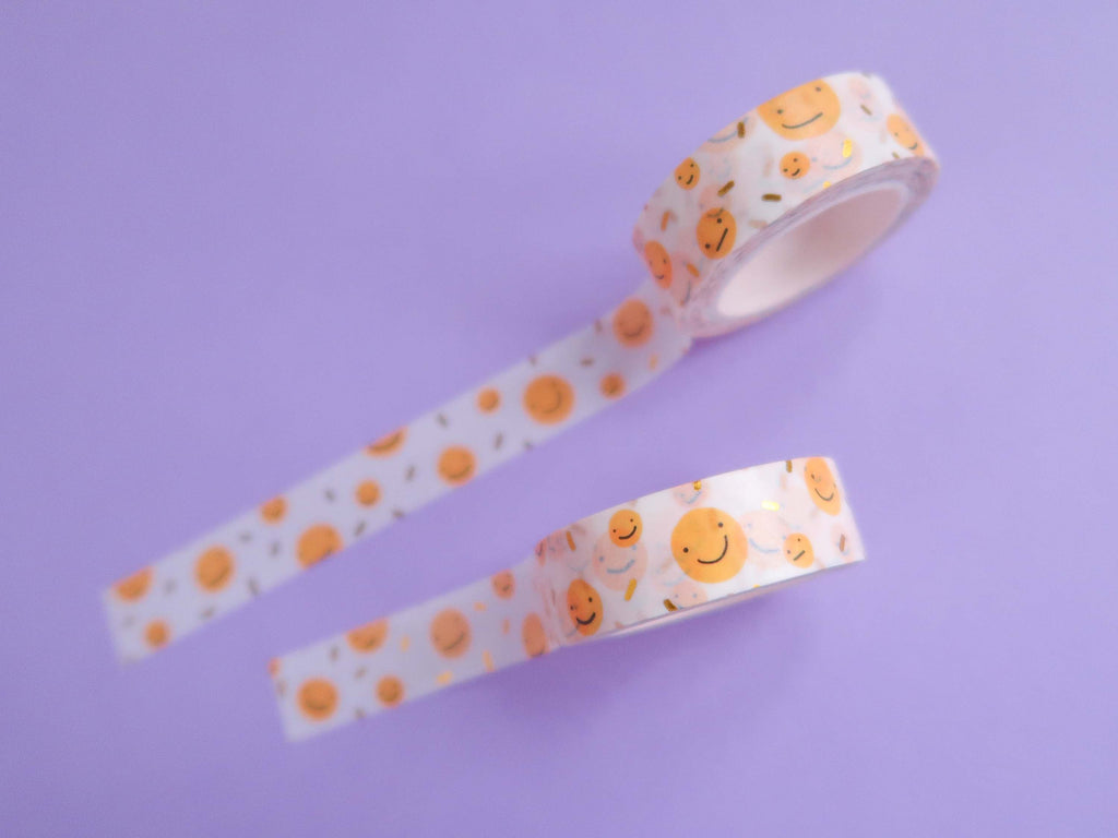 Gold Sprinkle Smilies Washi Tape