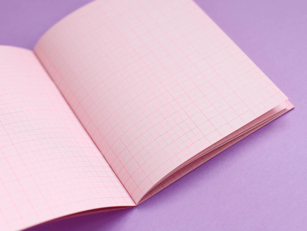 Risotto Pink Micro Grid Jotter